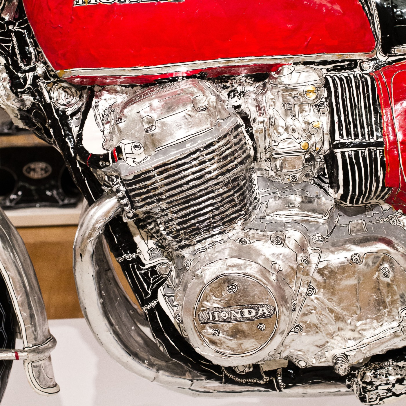 Honda CB750 K1 sculpture up close