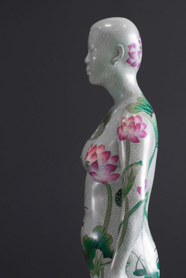 Ah Xian's work Human human - lotus, cloisonné figure 1