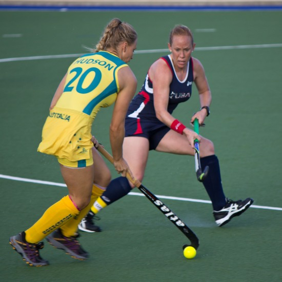 Marnie Hudson (Australia) on the attack