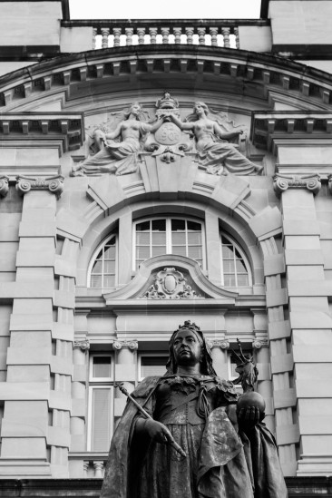 Queen Victoria statue, in front of former Executive Building & Lands Administration Building