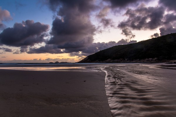 Dusk - Tidal River crossing Norman Beach into Bass Strait