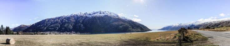 The foot of Lake Wakatipu, and the road to Queenstown