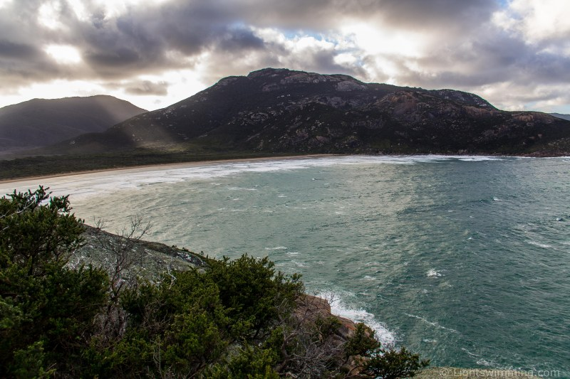 Norman Beach and Mt Oberon from Pillar Point, Wilsons Promontory National Park